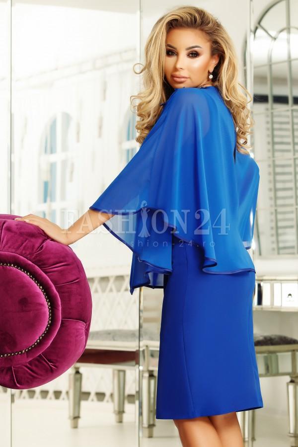 Rochie Eliada albastra cu voal