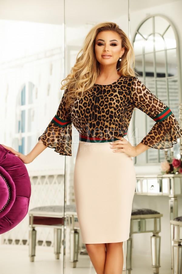 Rochie Beatrice model leopard