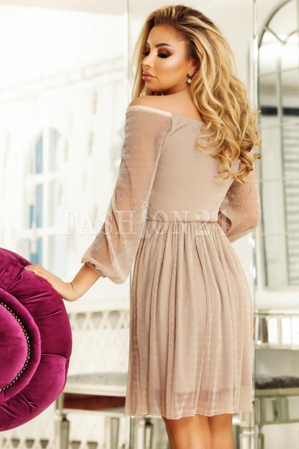 Rochie Myra roz pudra decupata la bust