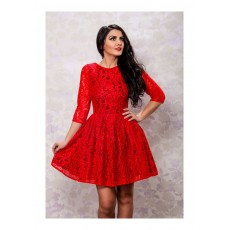 Rochie Baby Doll Red