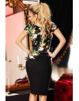 Rochie Matelia verde mulata cu imprimeu floral