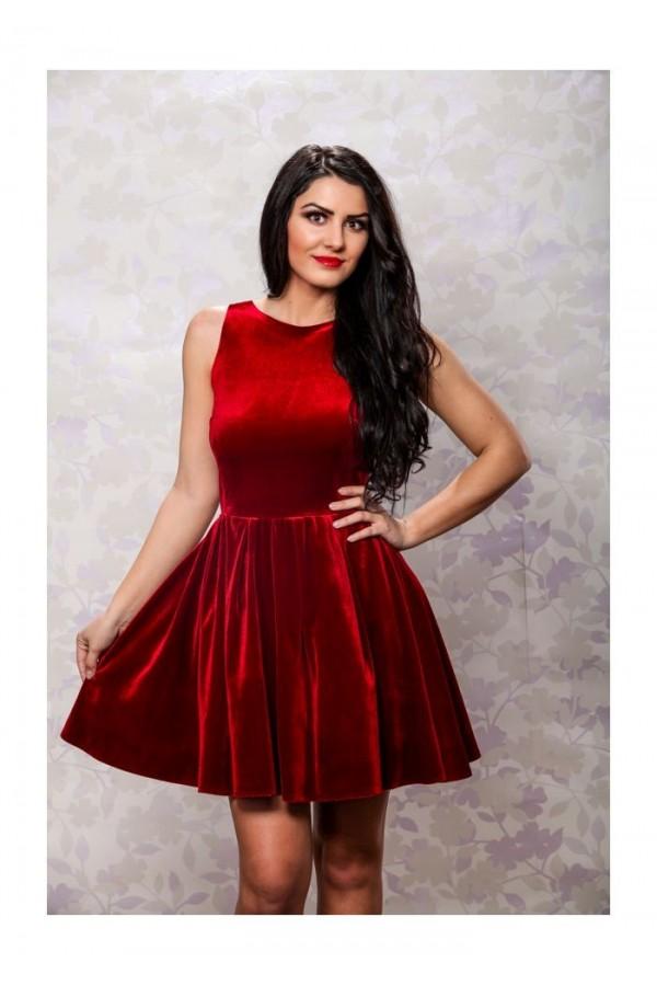 Rochie Love Velvet Red