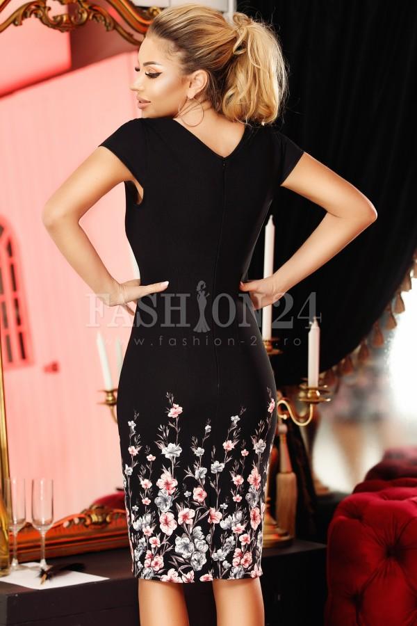 Rochie Luisa mulata cu imprimeu elegant