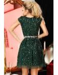 Rochie Marisa verde cu paiete
