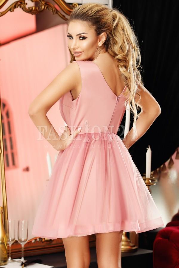 Rochie Reina roze in clos