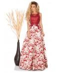 Rochie lunga Natalie rosie