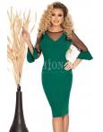 Rochie Emmy verde cu manecile in clopot