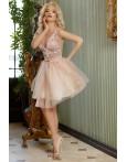 Rochie Alessia rose cu tul elegant