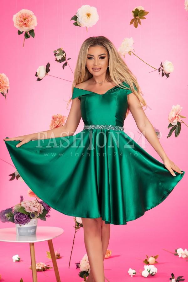 Rochie de seara verde smarald in clos