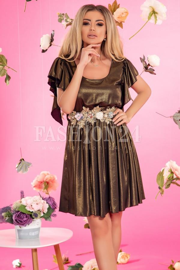 Rochie Eleganta Kaki In Clos