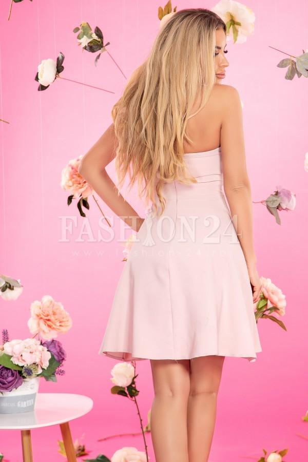 Rochie in clos in nuante de roze