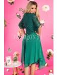 Rochie verde stil lejer
