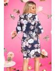 Rochie bleumairn cu imprimeuri florale margarete