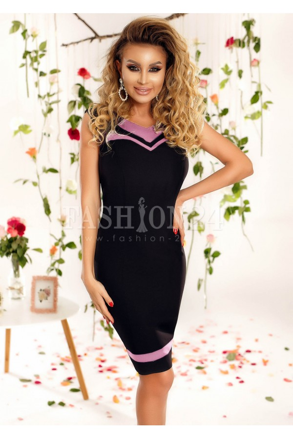 Rochie Olive roze si negru
