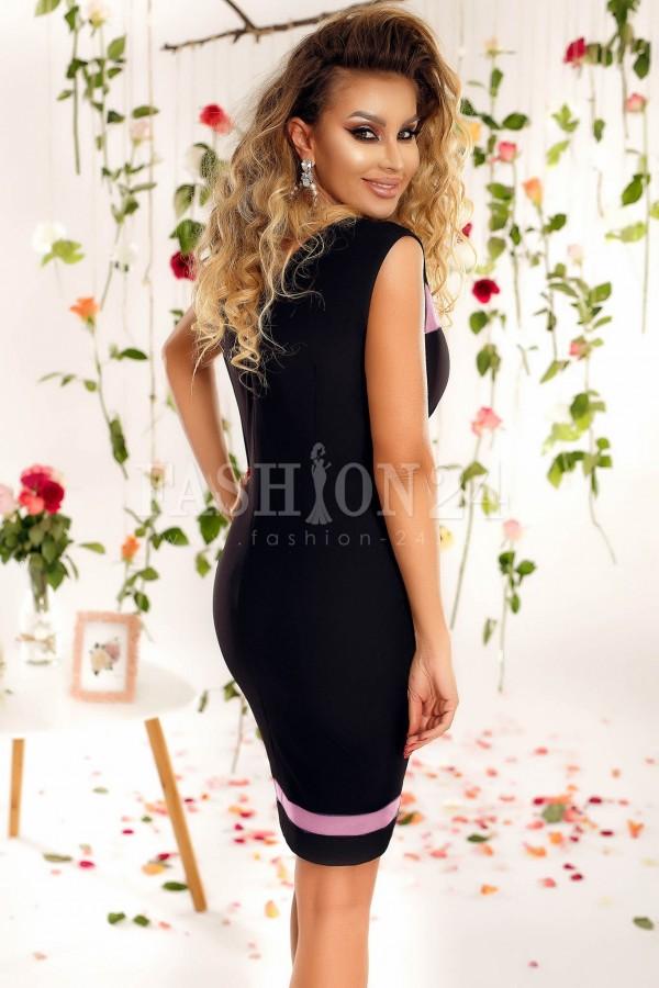 Rochie Olive roze si neagru