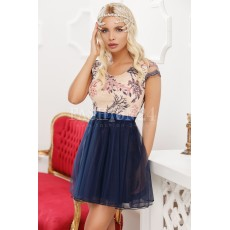 Rochie baby doll in nuante de bleumarin thumbnail