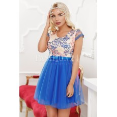 Rochie baby doll in nuante de albastra thumbnail