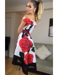 Rochie eleganta cu imprimeuri florale trandafiri
