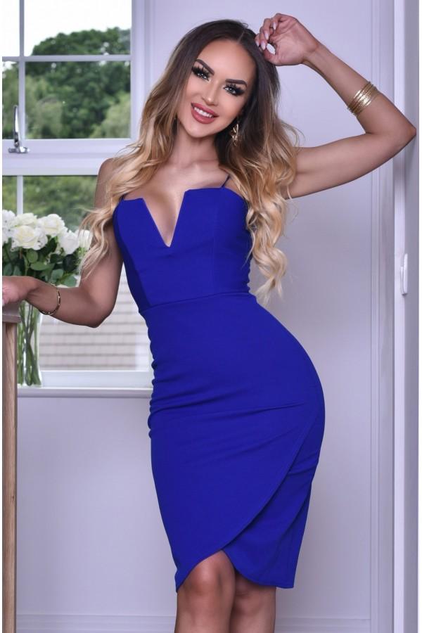 Rochie de seara mulata pe corp albastru royal