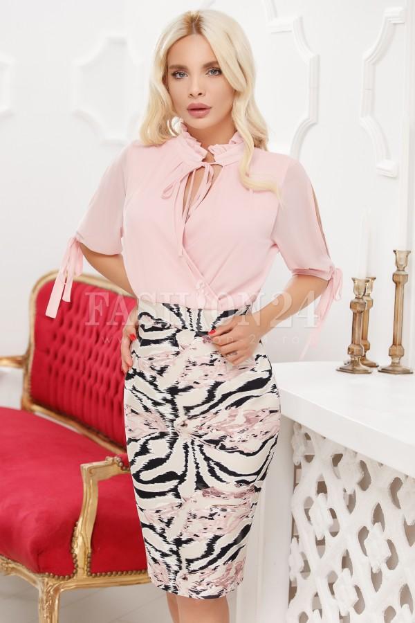 Rochie Eleganta In Nuante De Roze