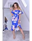 Rochie albastra cu imprimeuri deosebite