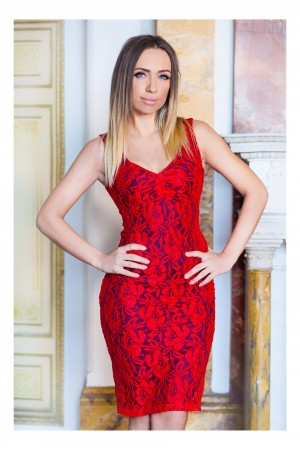 Rochie Sweet Midi Red