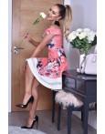 Rochie de vara cu imprimeuri roz