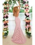 Rochie lunga cu trena detasabila roze
