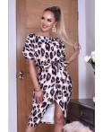 Rochie eleganta cu imprimeuri leopard