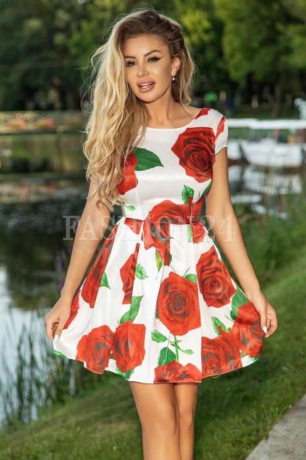 Rochie Raisa eleganta cu flori
