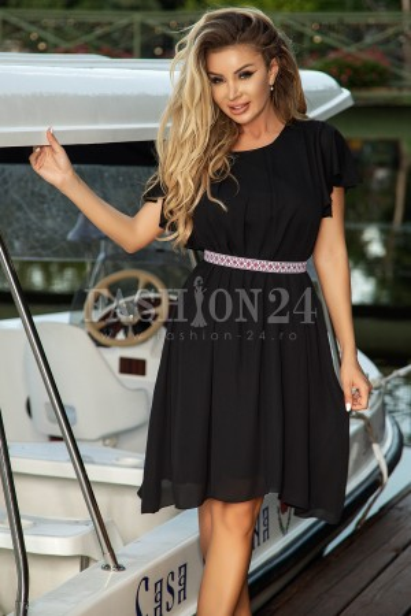 Rochie Helena eleganta in nuante de negru