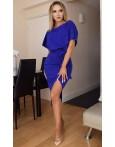 Rochie de seara albastra cu cordon in talie