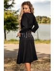 Rochie in nuante de negru usor in clos