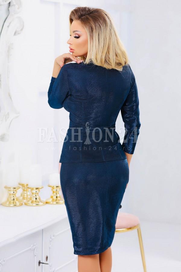 Compleu bleumarin elegant lucios