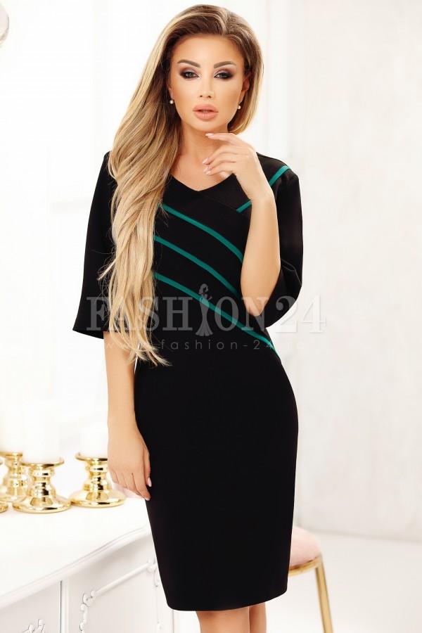 Rochie Cara in doua culori negru si verde
