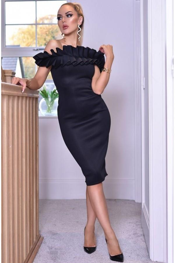 Rochie Evelyn neagra eleganta