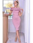 Rochie Evelyn roz eleganta