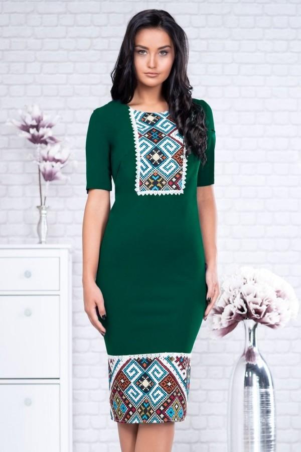 Rochie Iolanda verde traditionala