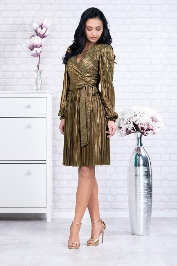 Rochie Elvira auriu