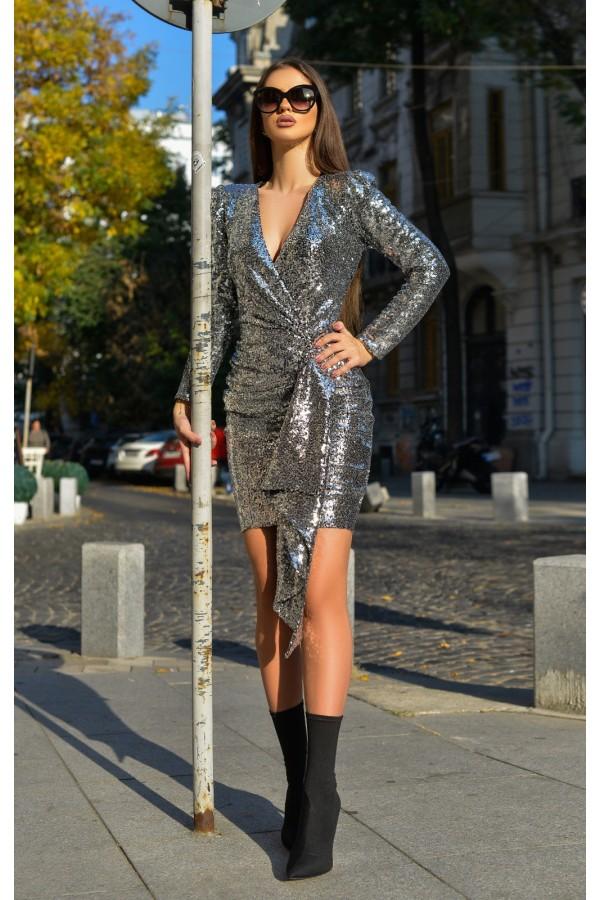 Rochie de seara Aymee argintiu