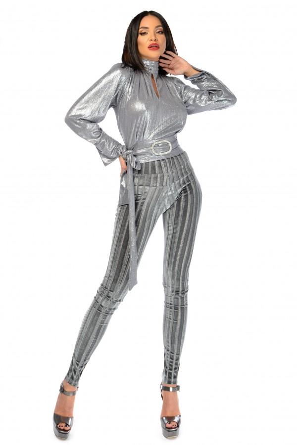 Compleu elegant Monalis argintiu