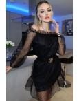 Rochie Katalina negru cu design deosebit