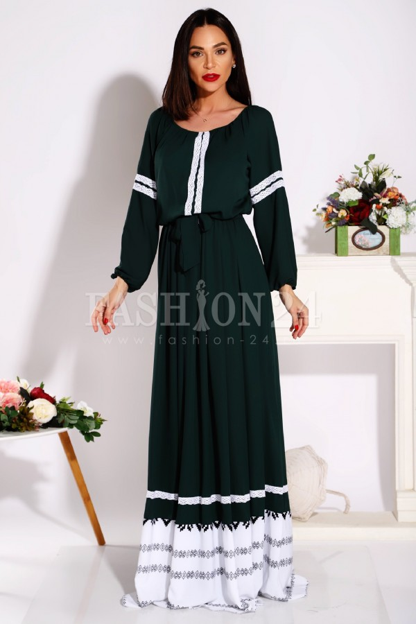 rochie verde fashionways