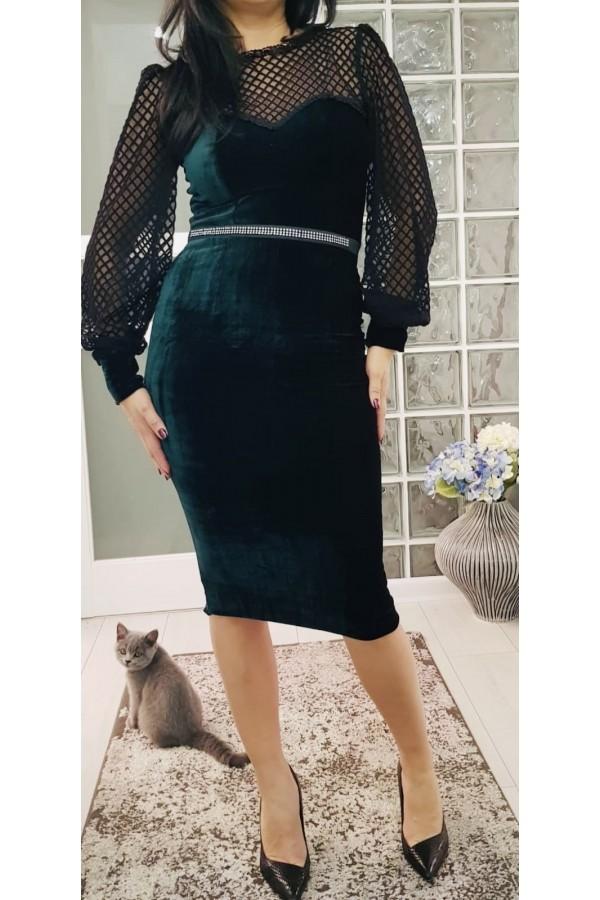 Rochie De Seara Green Velvet