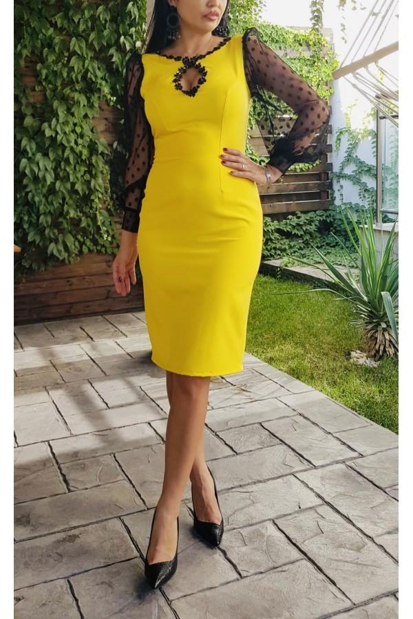 Rochie  Yellow Evening
