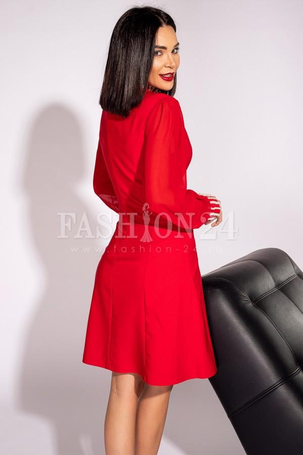 Rochie Roxana rosie croiul in A