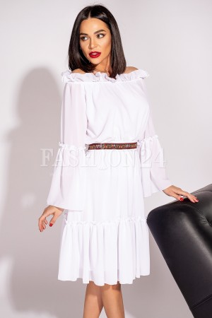 Rochie Elena alba in stil traditional