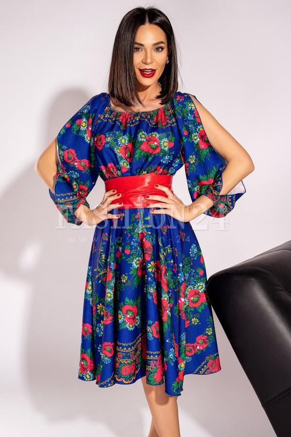 Rochie Susana traditionala albastra
