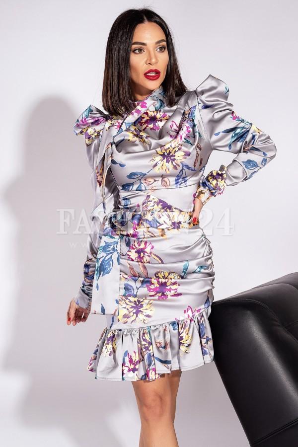 Rochie Delia in nuante multicolore