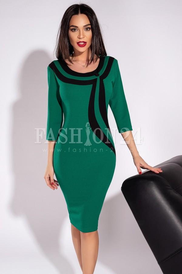 Rochie Andra in doua culori verde si negru - rochie andra in doua culori verde si negru - Rochie Andra in doua culori verde si negru